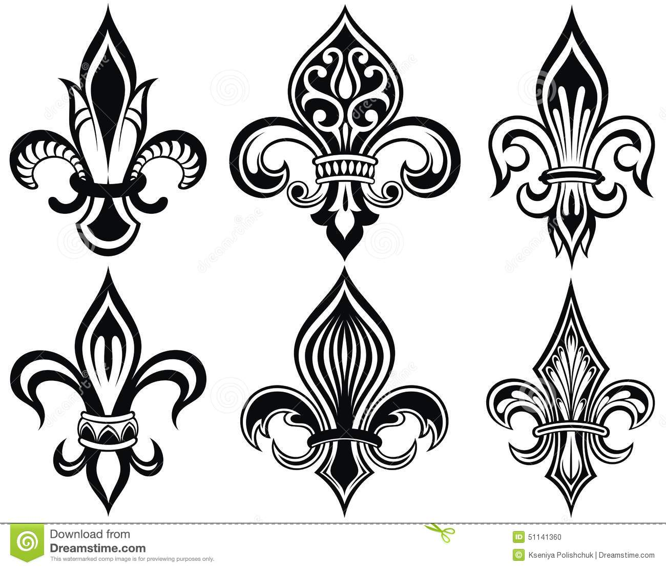 fleur de lys stock vector image 51141360. Black Bedroom Furniture Sets. Home Design Ideas