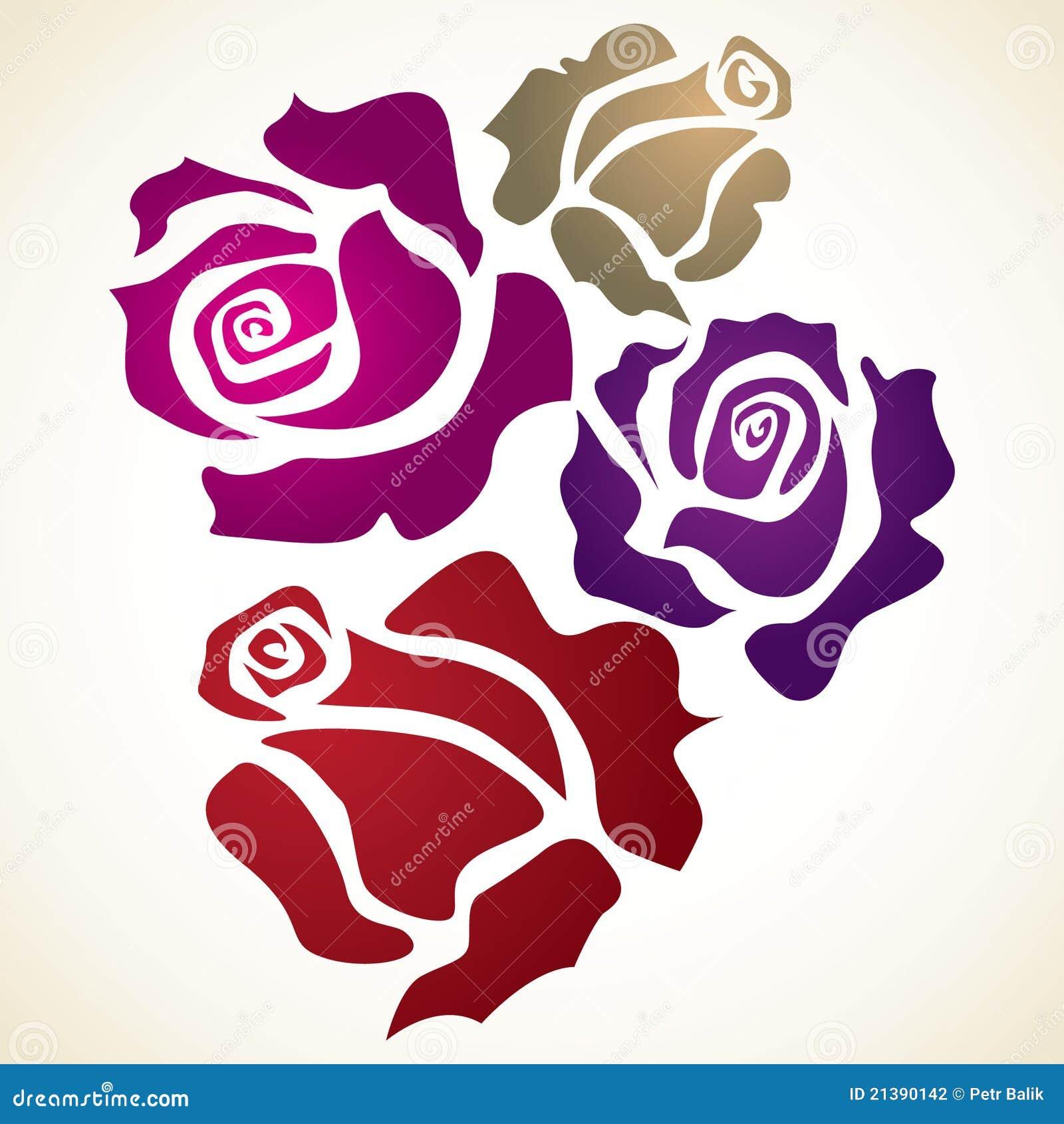 Fleur de quatre couleurs