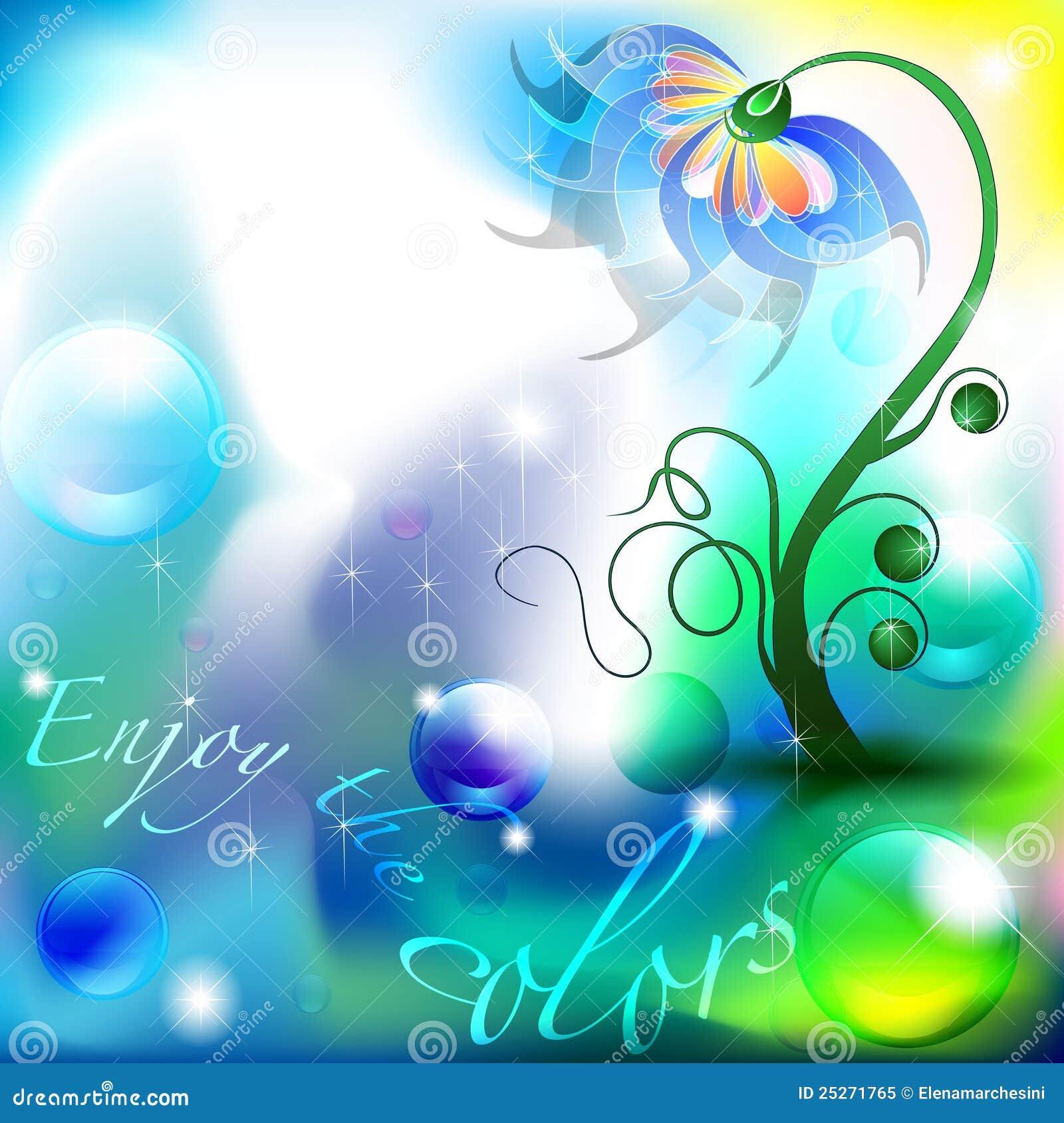 fleur f erique des nuances de couleur bleue et verte photo libre de droits image 25271765. Black Bedroom Furniture Sets. Home Design Ideas