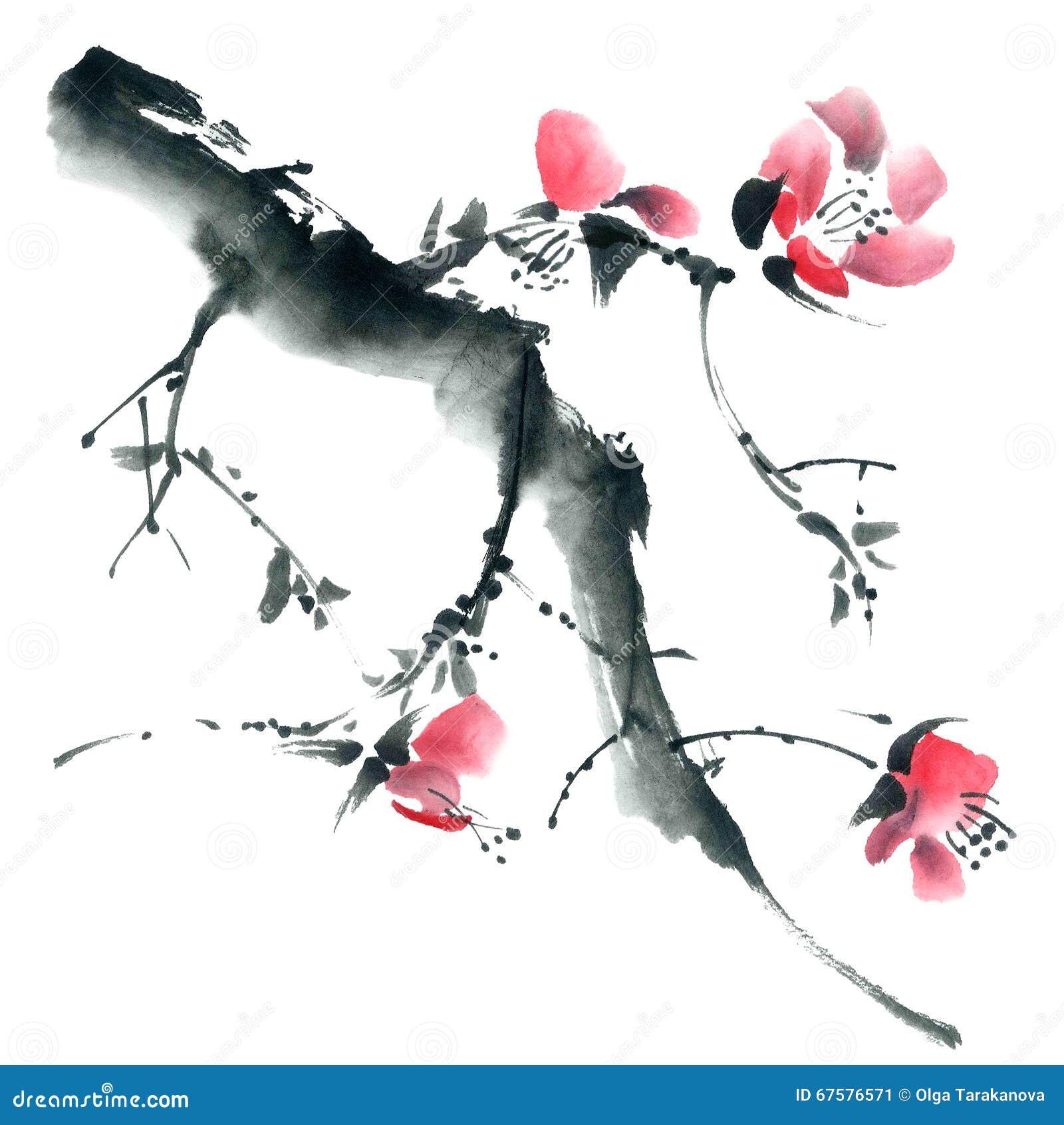 Fleur Sakura Fleurit L Illustration Illustration Stock