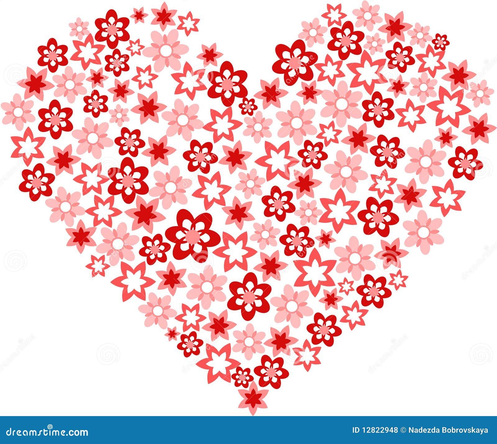 Fleur sous forme de coeur photos libres de droits image 12822948 - Fleurs en forme de coeur ...