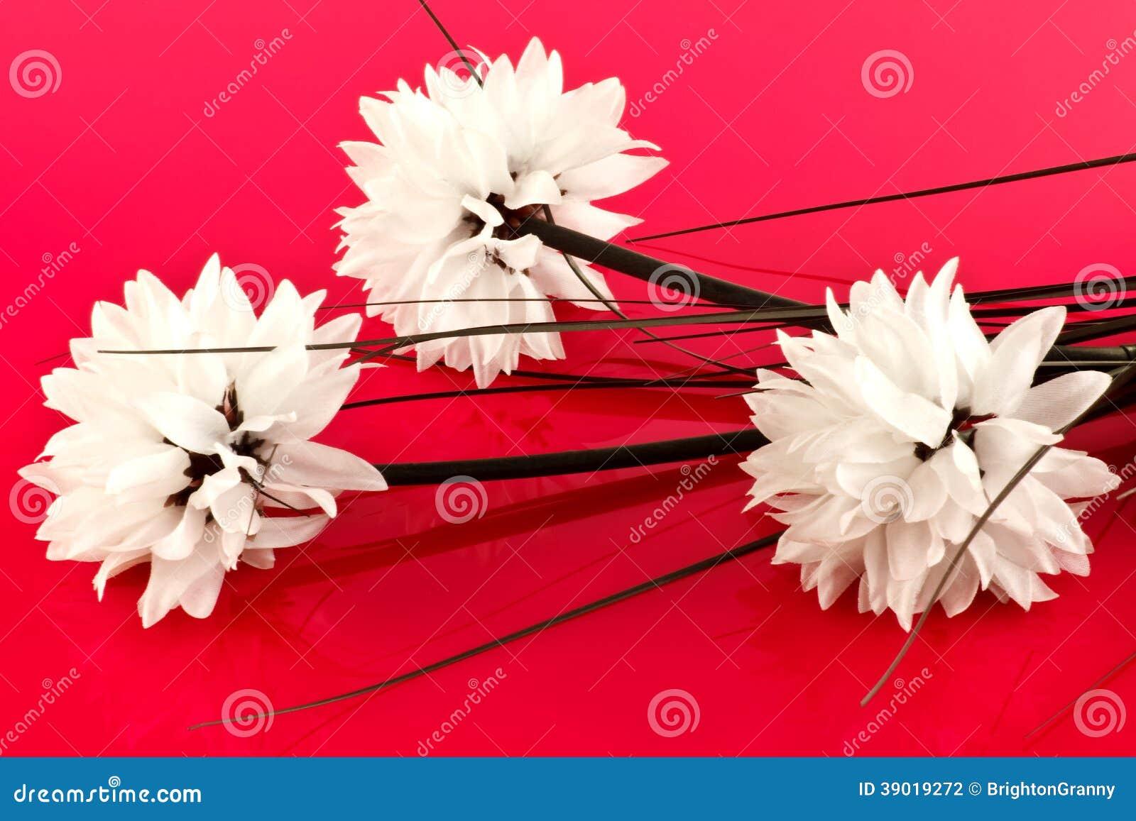 fleurs artificielles blanches photo stock image du d coration ornement 39019272. Black Bedroom Furniture Sets. Home Design Ideas