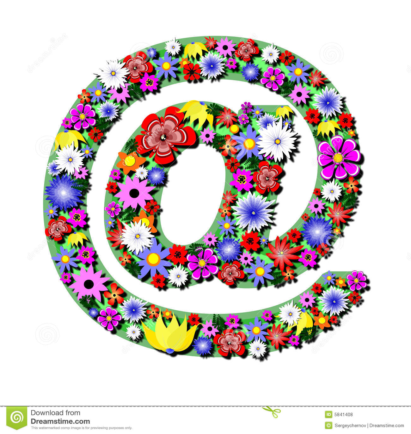 fleurs d 39 internet illustration stock illustration du
