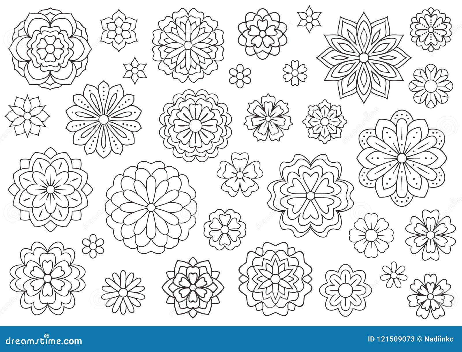 Coloriage Fleur Zen.Coloriage Adulte Fleurs