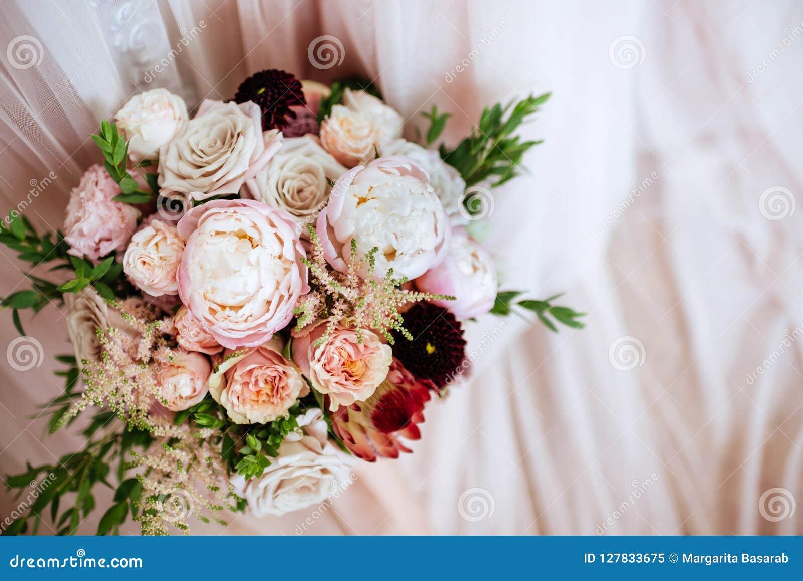 Fleurs de mariage, plan rapproché nuptiale de bouquet