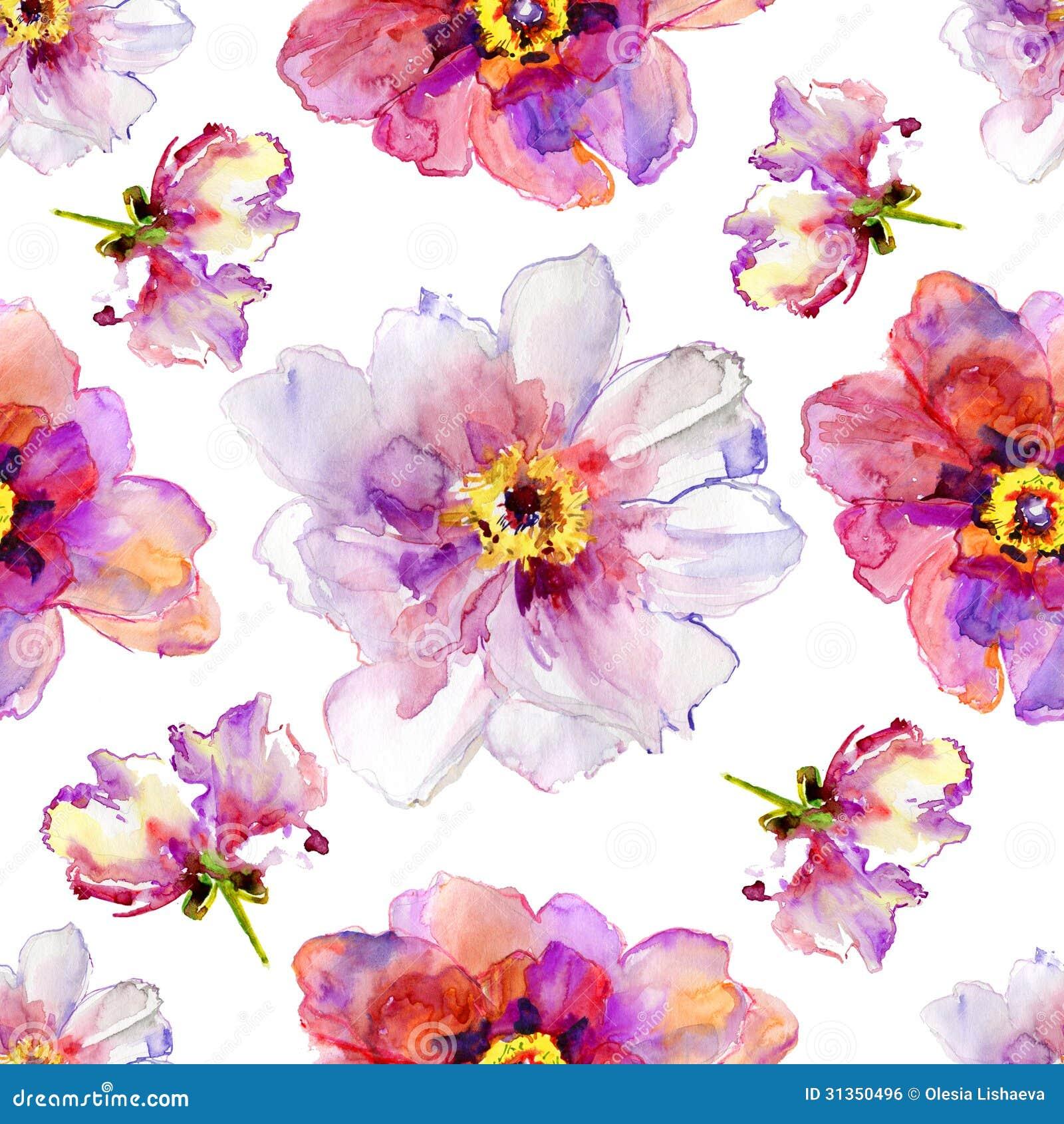 Fleurs de pivoine illustration d 39 aquarelle image libre for Aquarelle fleurs