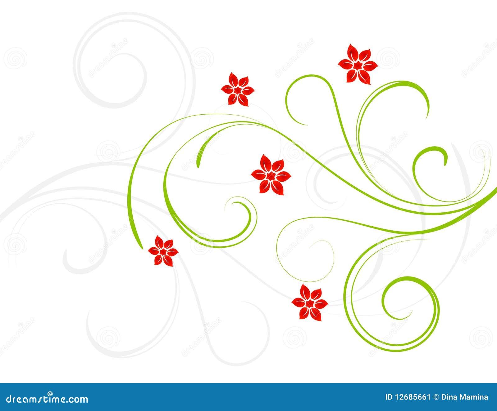 Fleurs de rouge d élégance