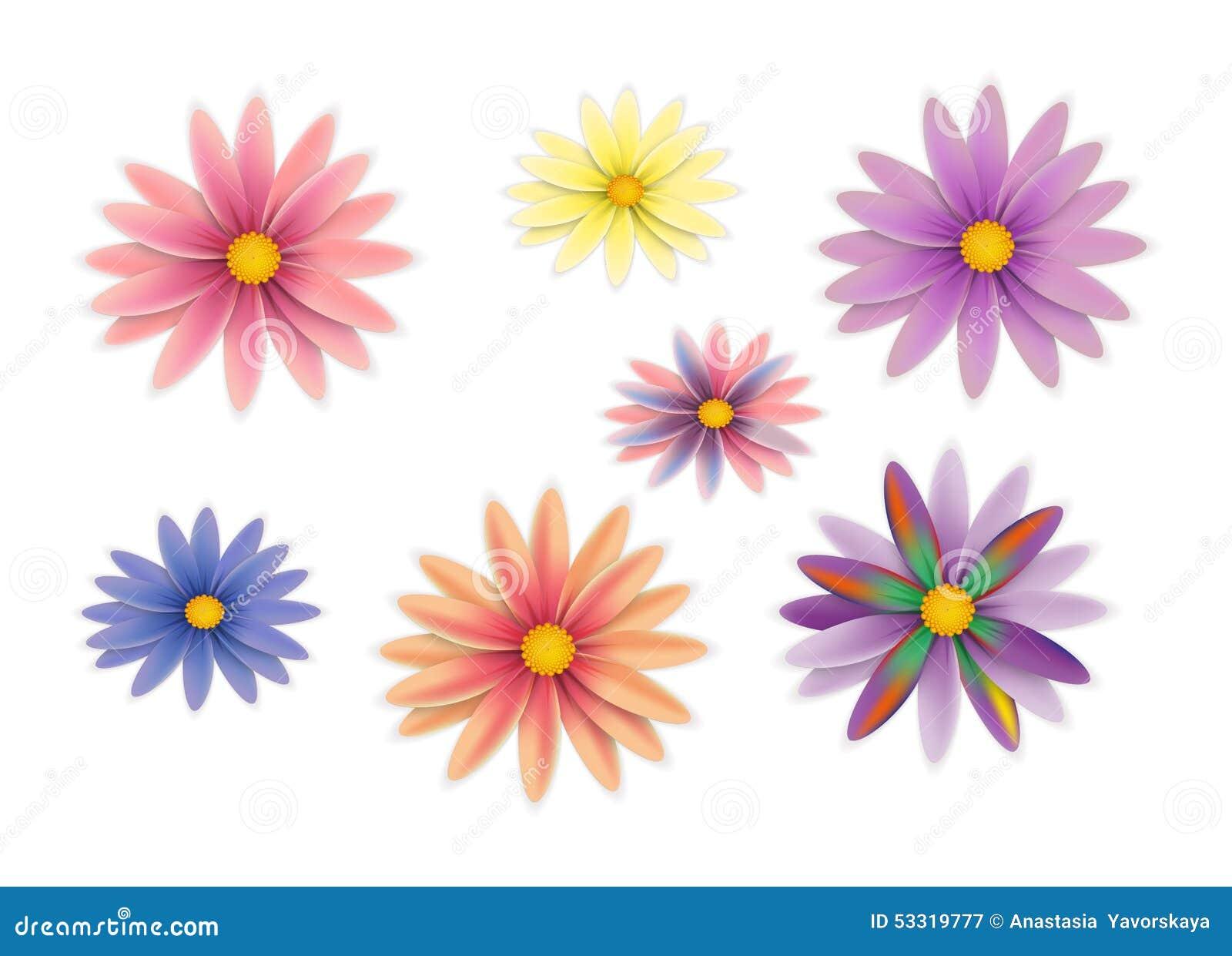 Fleurs de vecteur réglées