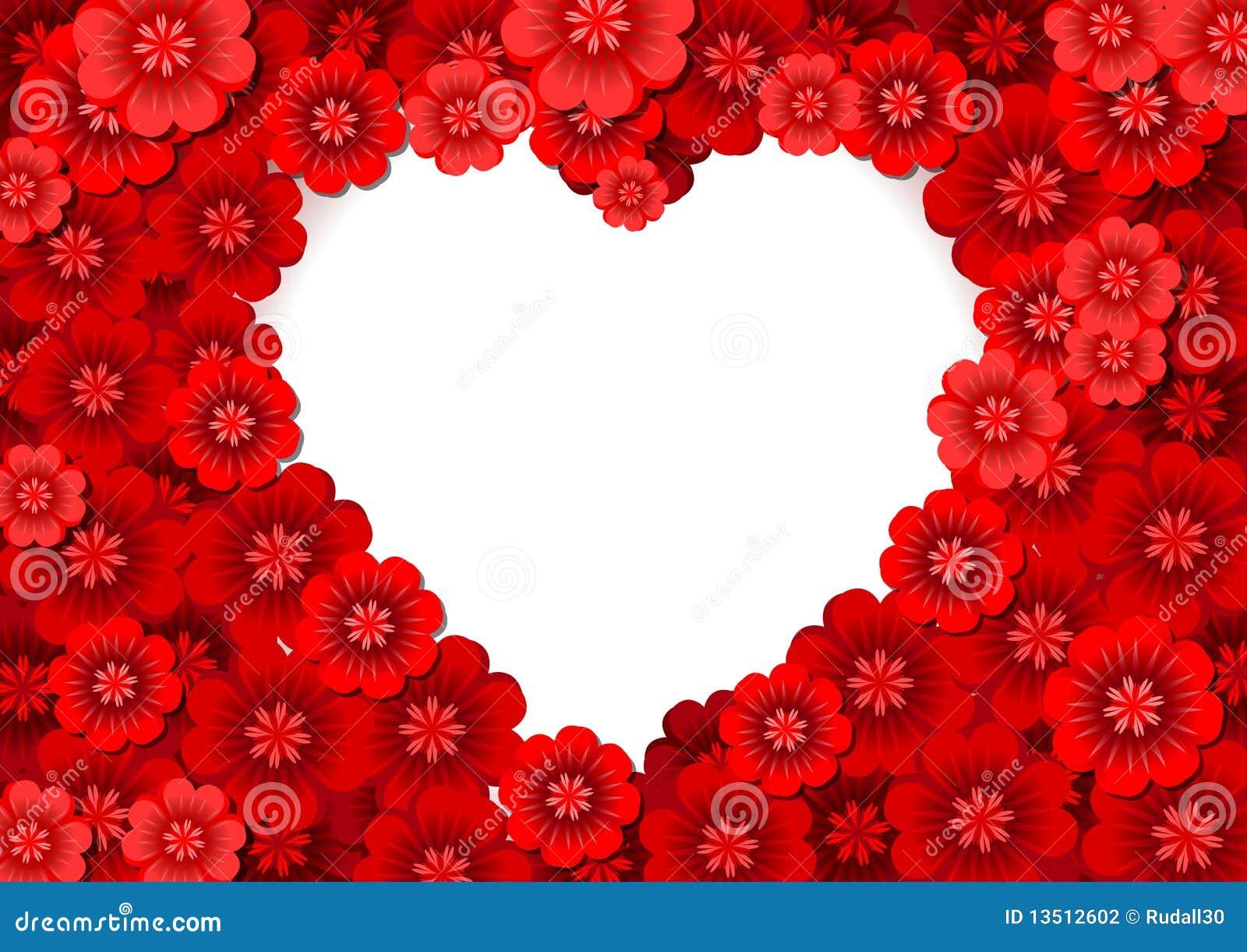 Fleurs en forme de coeur photographie stock image 13512602 - Fleurs en forme de coeur ...