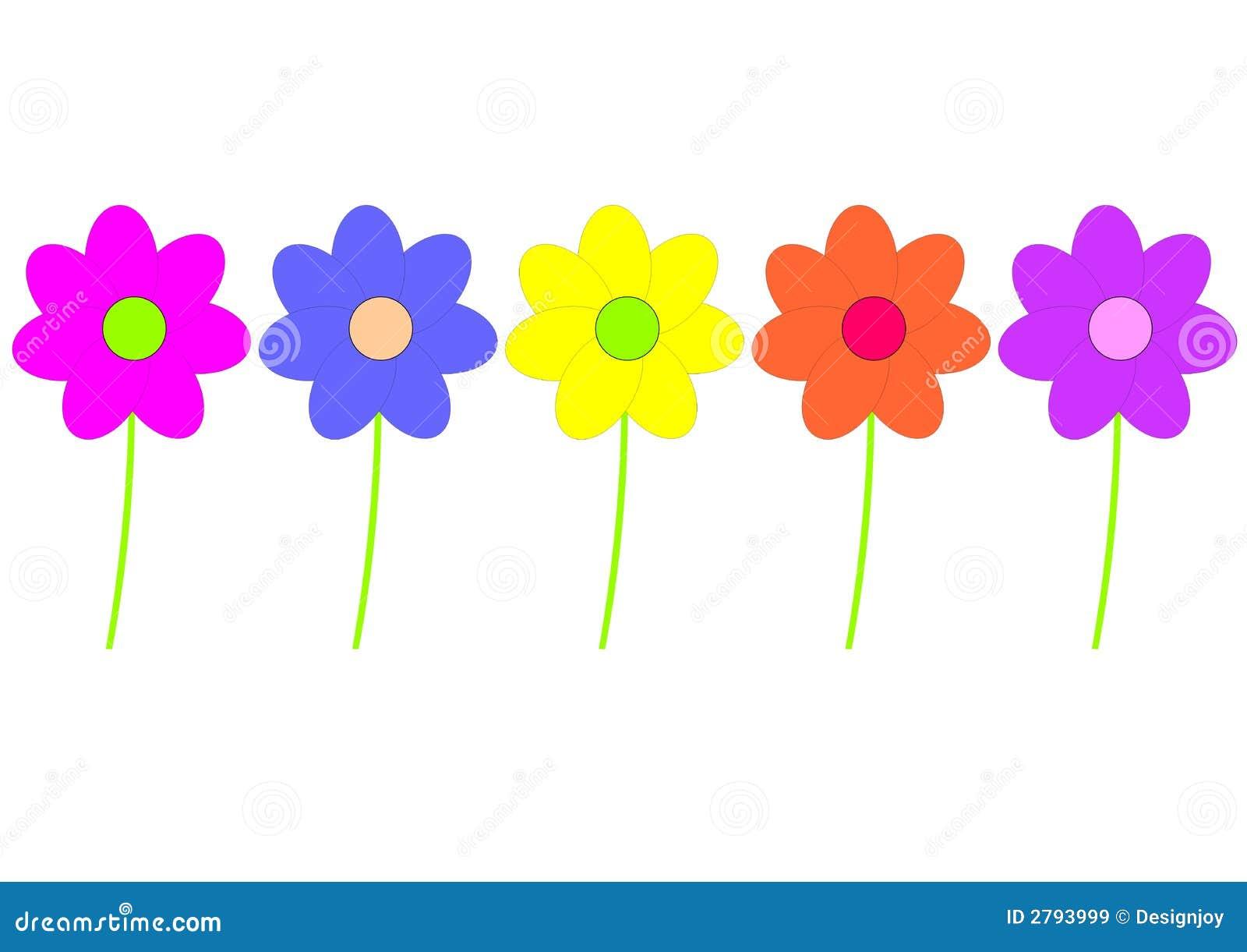 Fleurs enfantines images libres de droits image 2793999 - Dessin de fleurs a imprimer en couleur ...