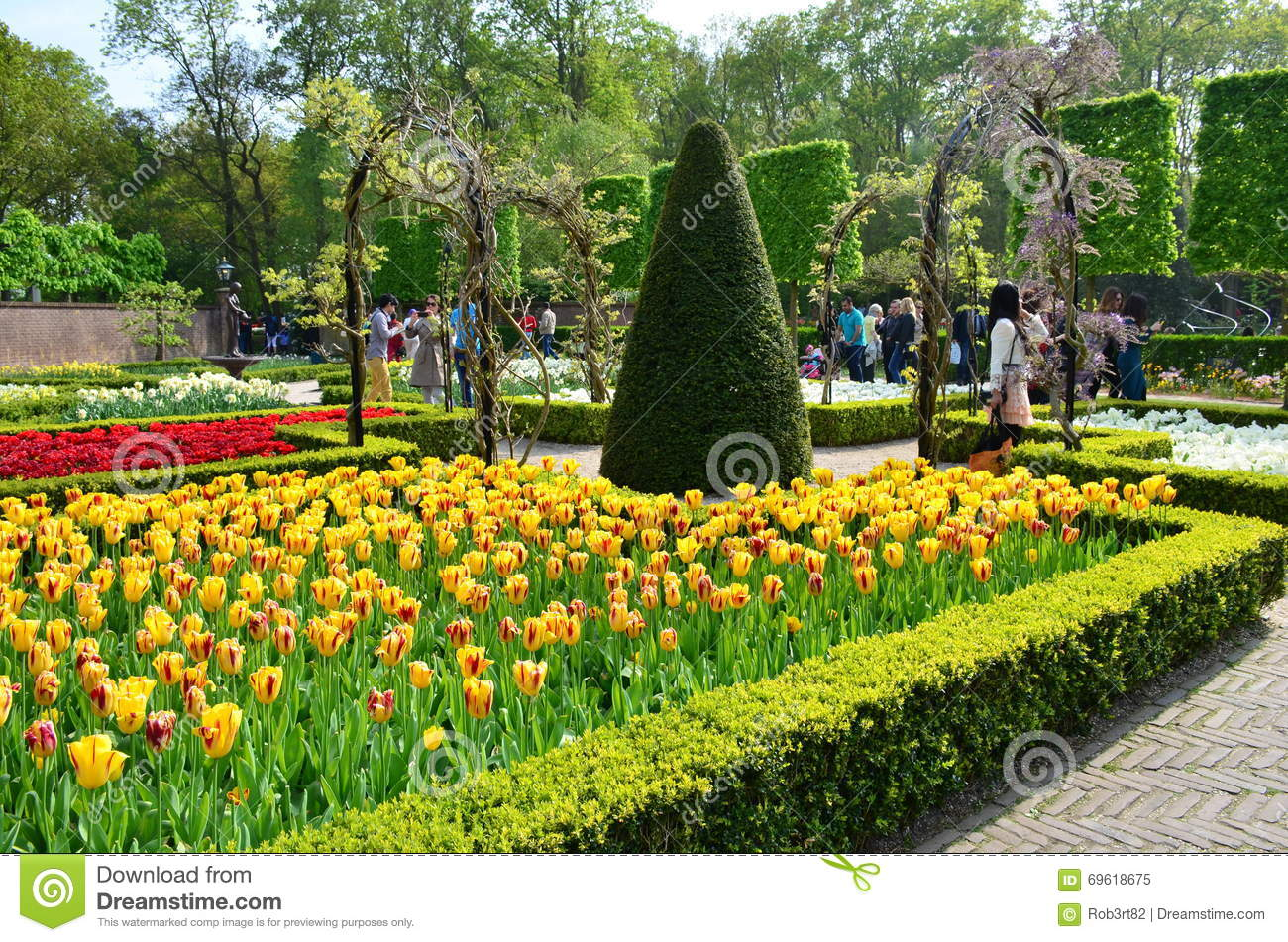 fleurs et fleur color es dans le jardin n erlandais keukenhof de ressort image ditorial image. Black Bedroom Furniture Sets. Home Design Ideas