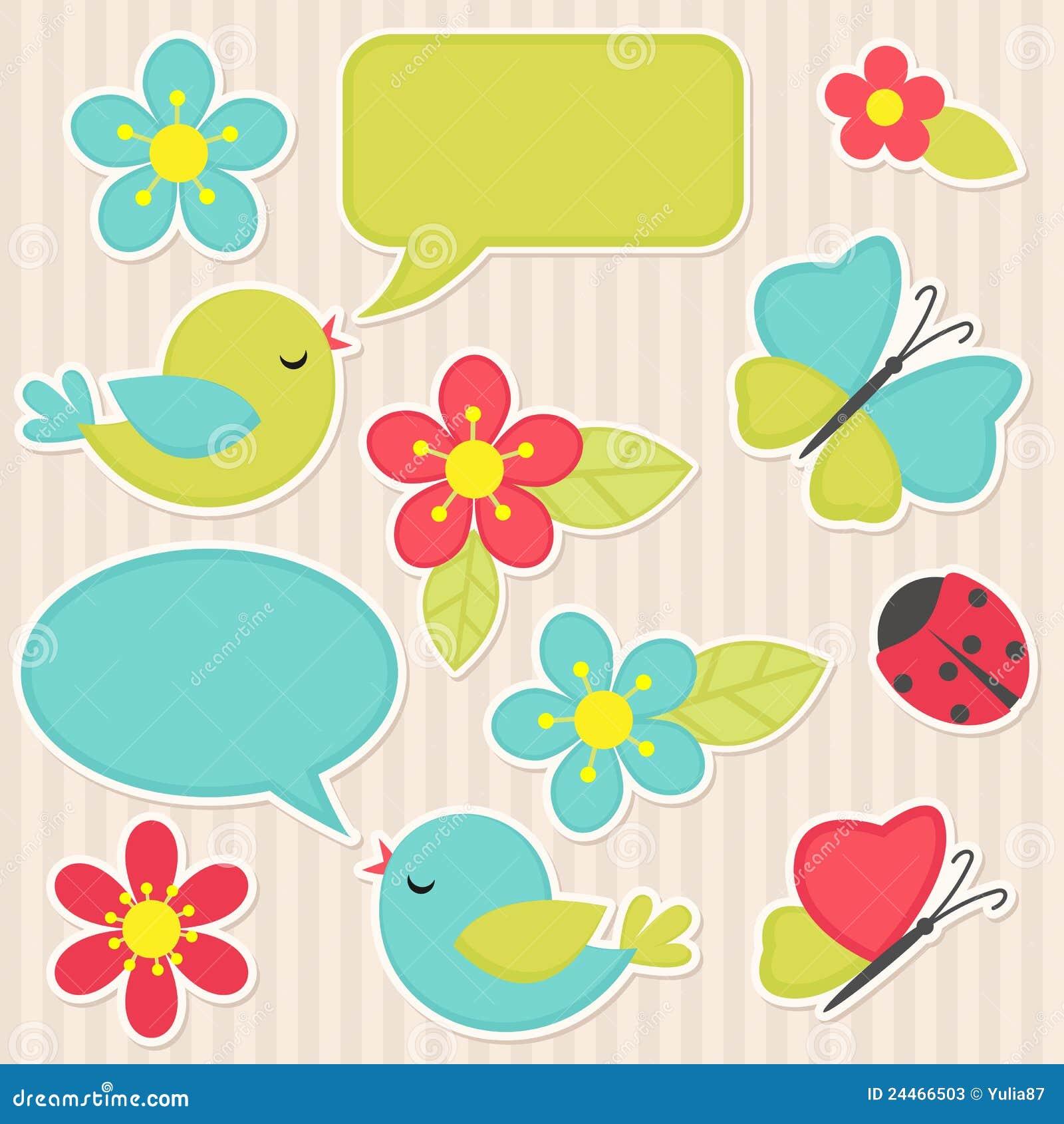 Fleurs et oiseaux