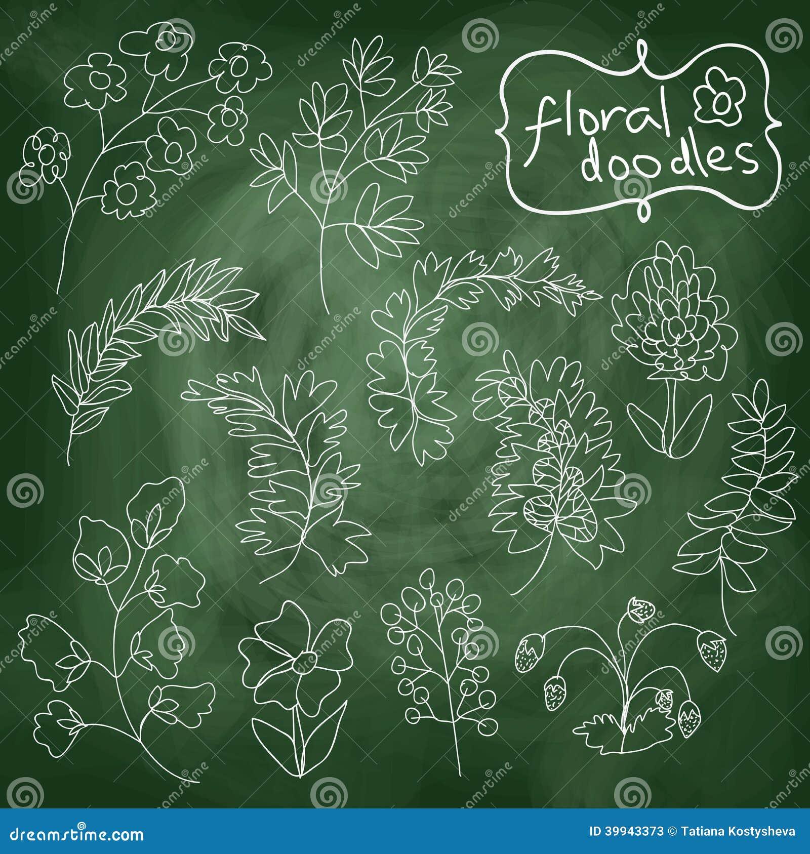 Fleurs Et Plantes Réglées Sur Le Fond De Tableau