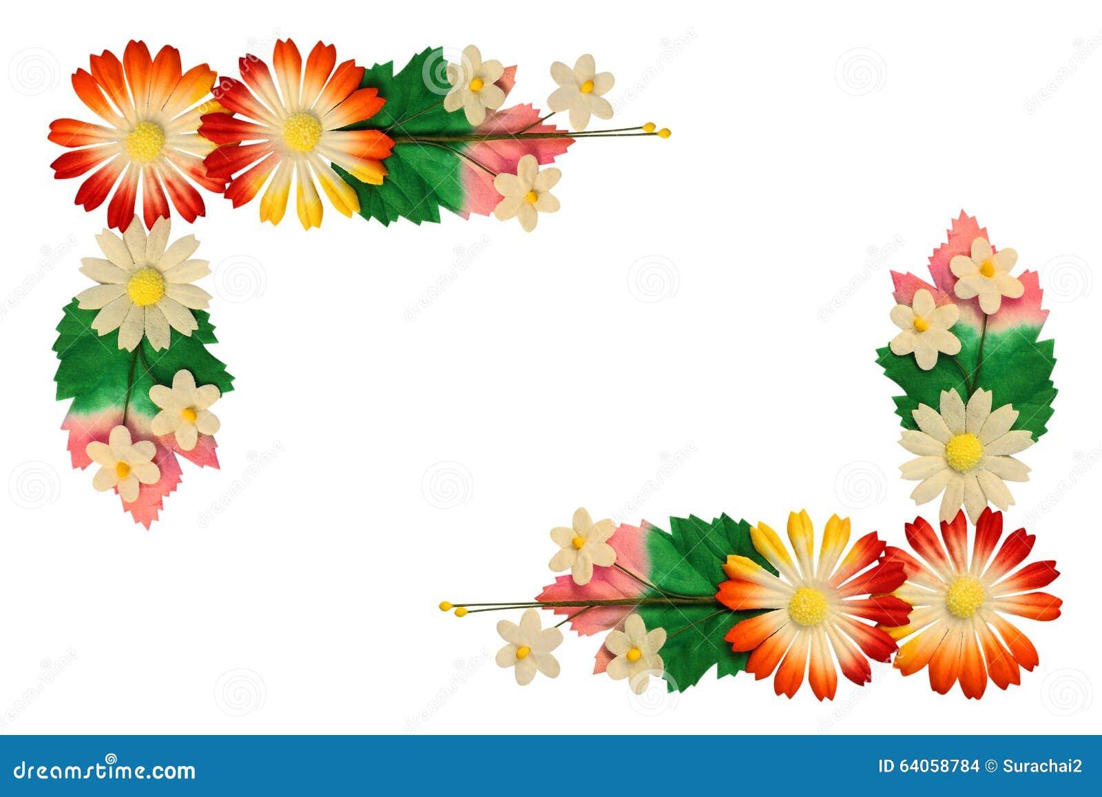 Fleurs faites de papier coloré