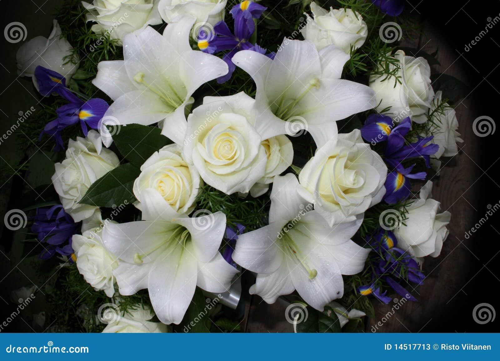 Fleurs funèbres pour des condoléances