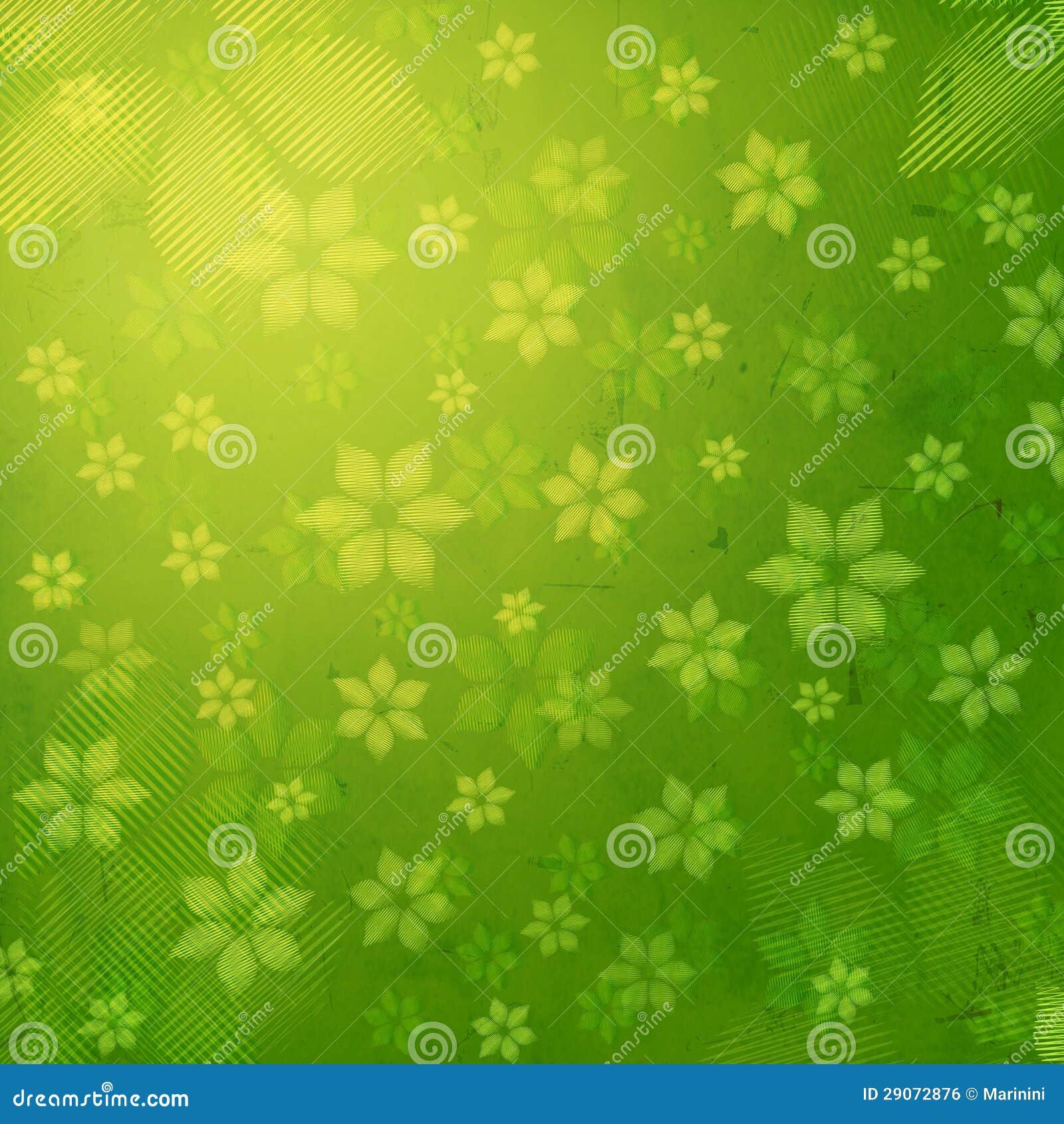 fleurs ray es au vieil arri re plan de papier vert image libre de droits image 29072876. Black Bedroom Furniture Sets. Home Design Ideas