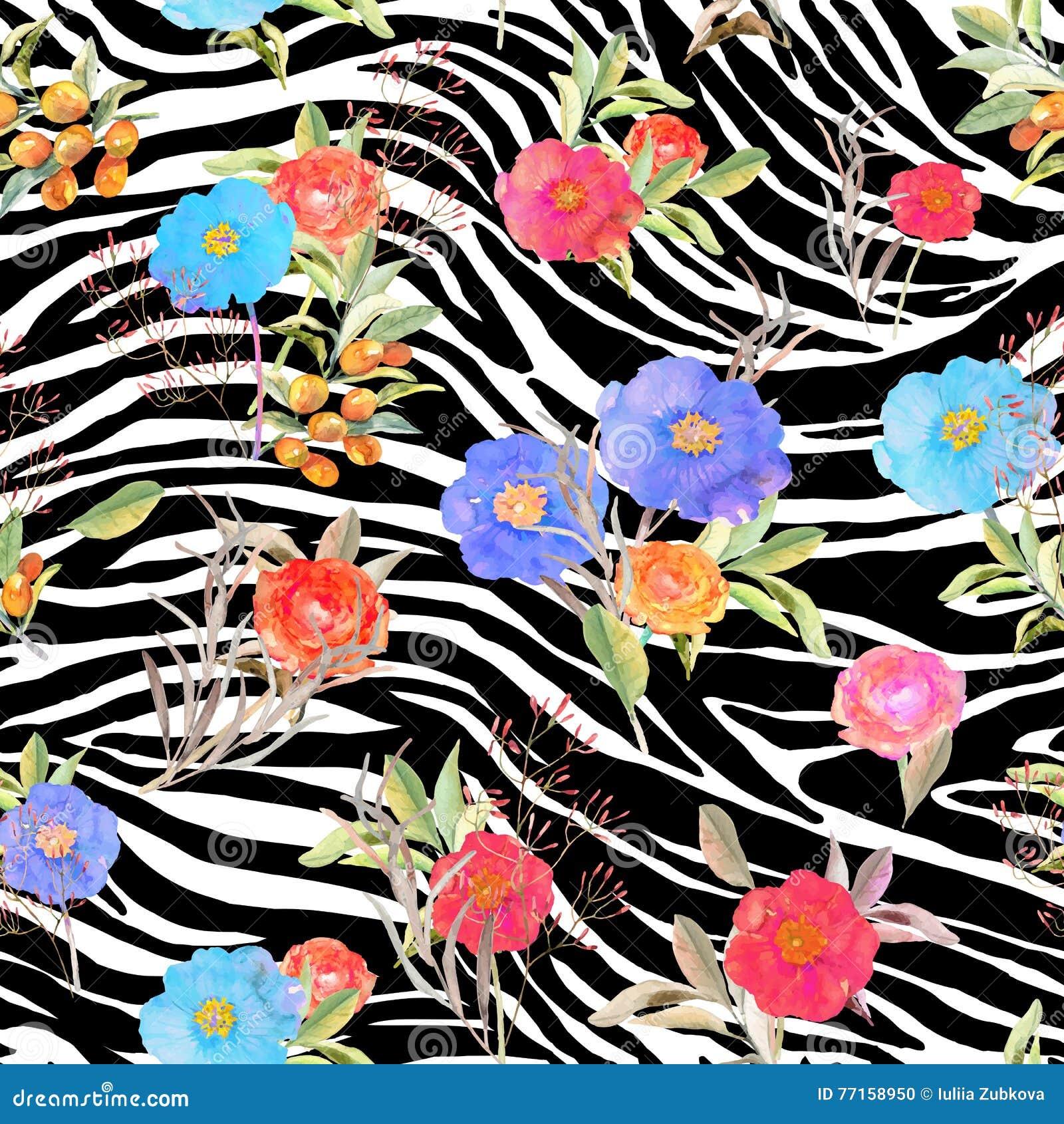 Fleurs sans couture géométriques abstraites de whith de modèle