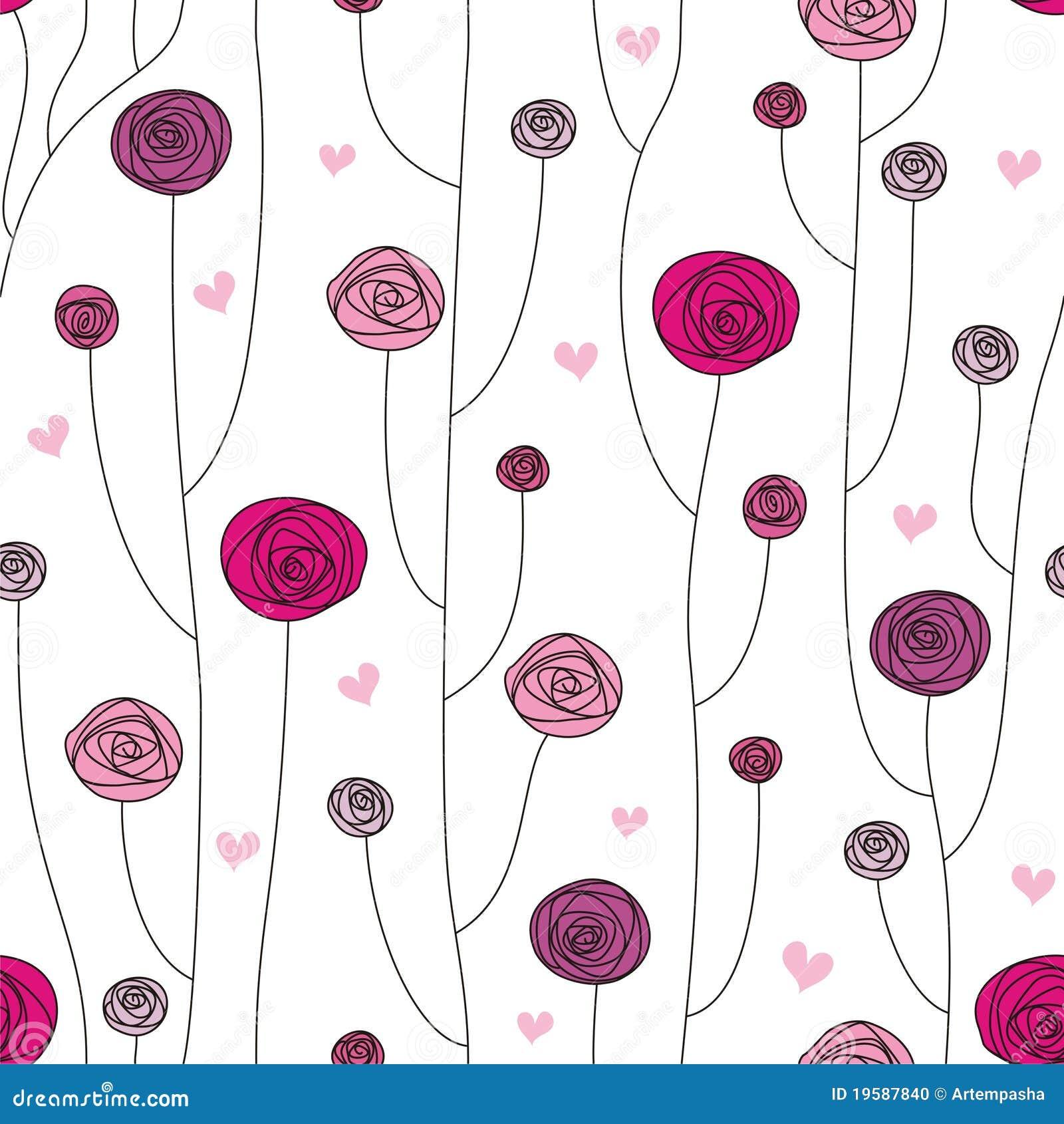 Fleurs Stylisées Illustration De Vecteur Illustration Du