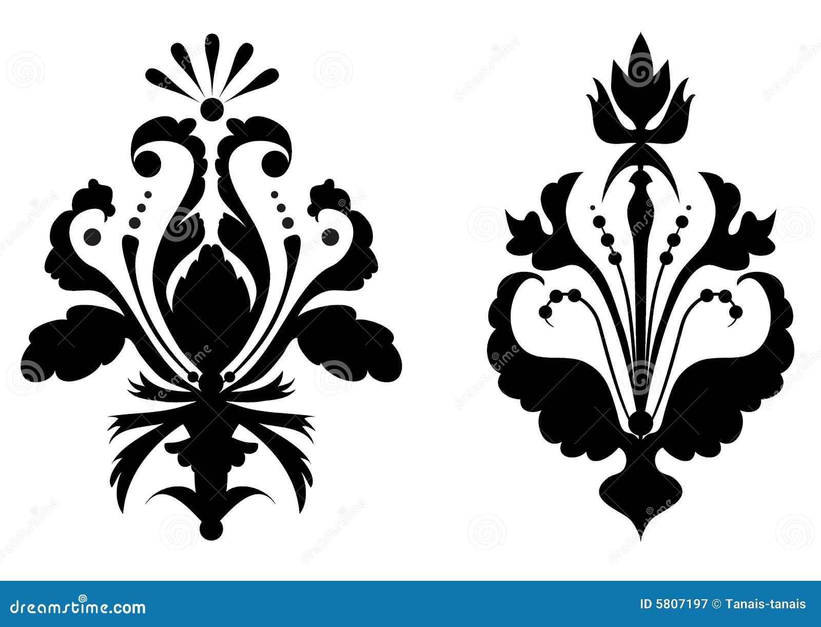 Fleurs Stylisées fleurs stylisées illustration de vecteur. illustration du bourgeon