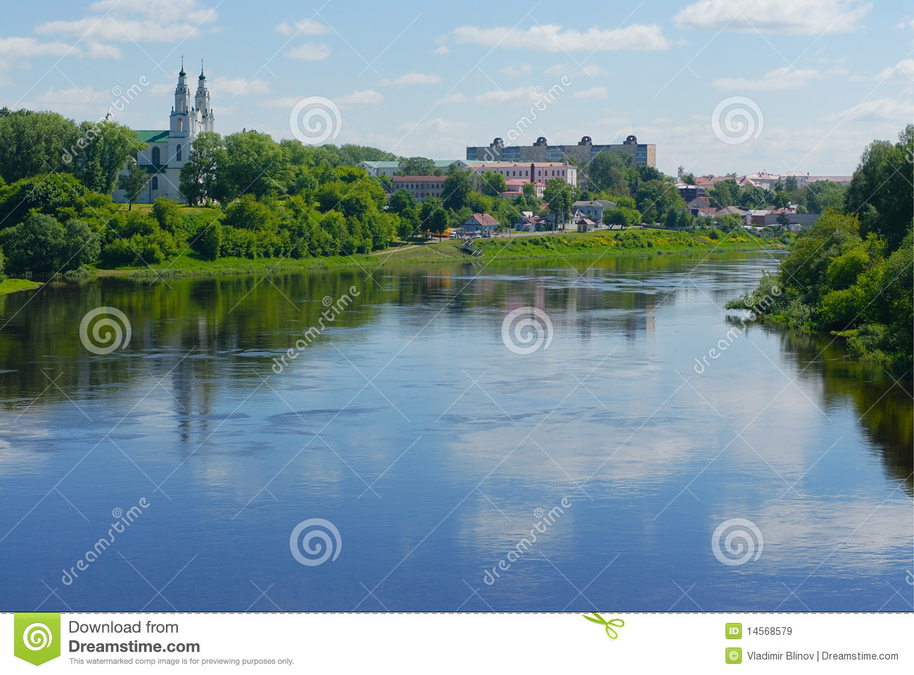 Fleuve Dvina occidental au Belarus
