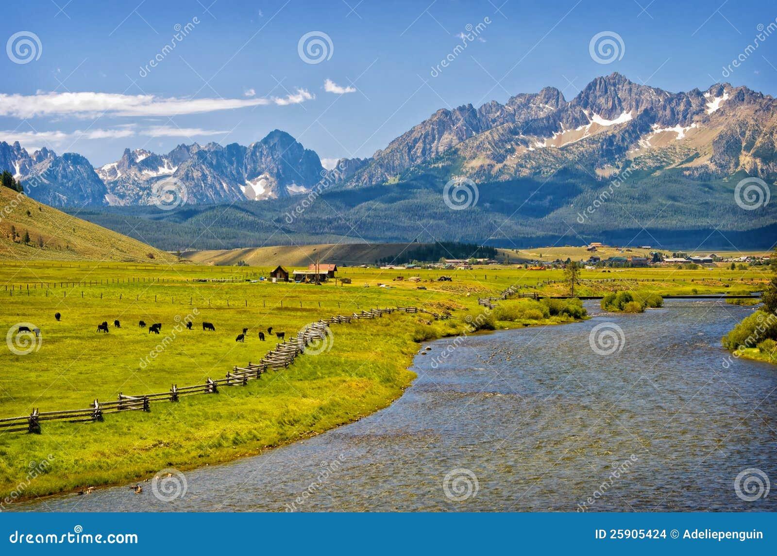 Fleuve, ranch et montagnes, Idaho