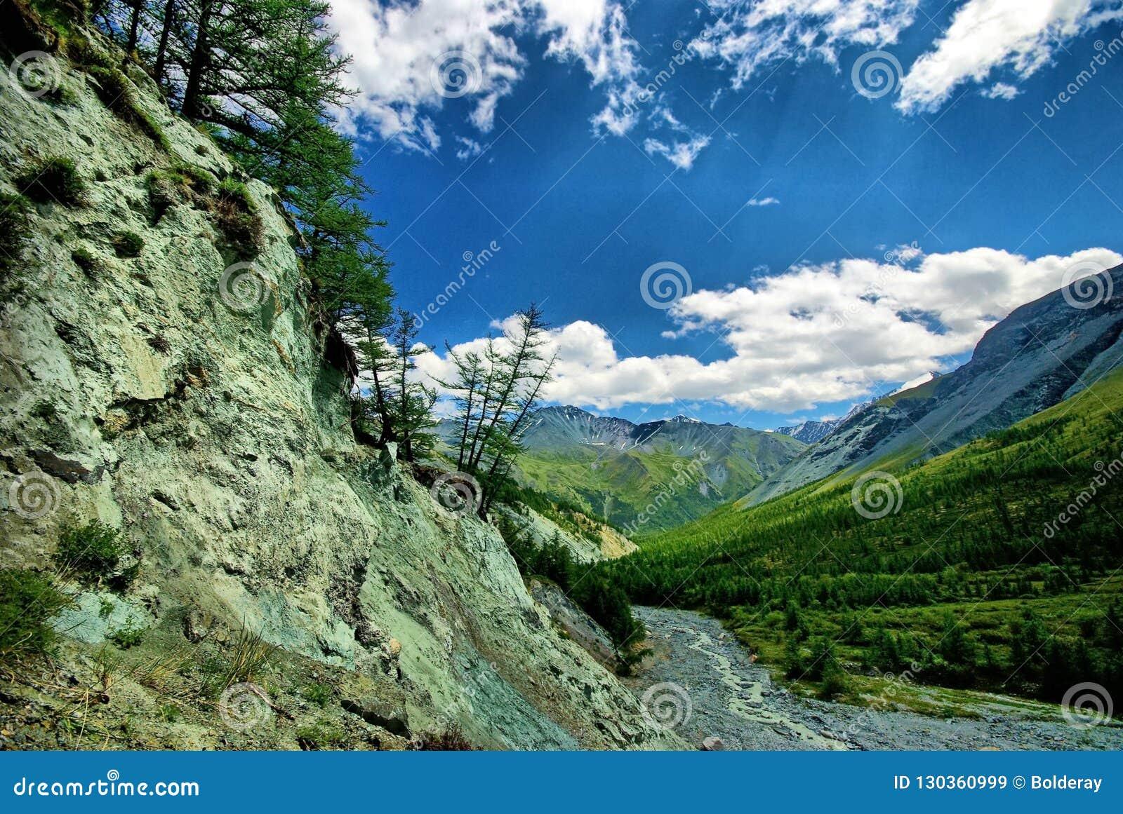 Fleuve rapide de montagne Rivière de montagne d eaux de plus près de la source La rivière de Tumnin est la plus grande rivière su