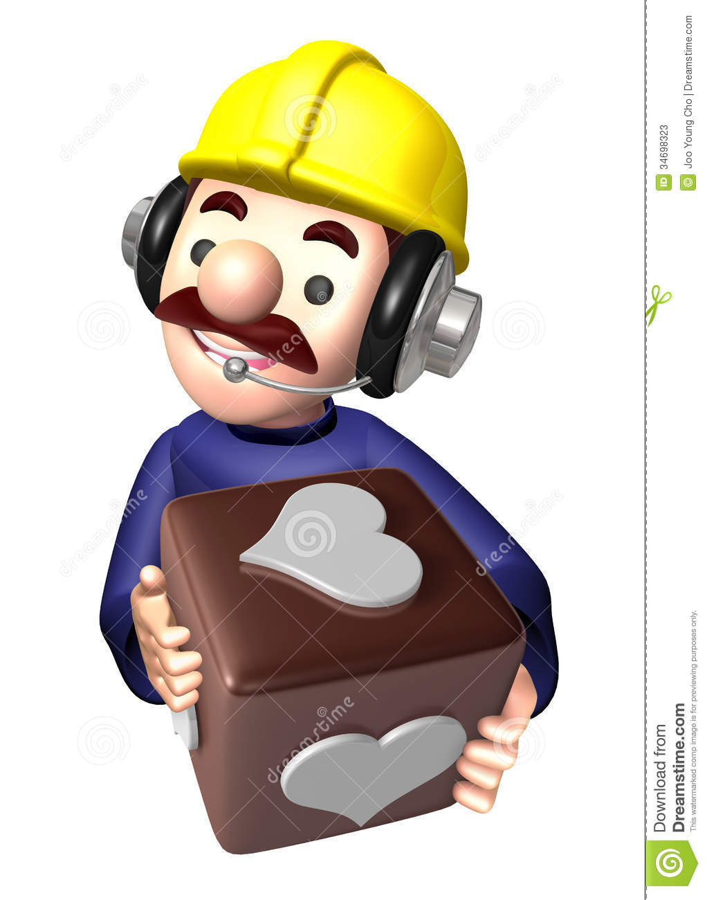 Flexibility as possible a sets of construction site man for Character designer job