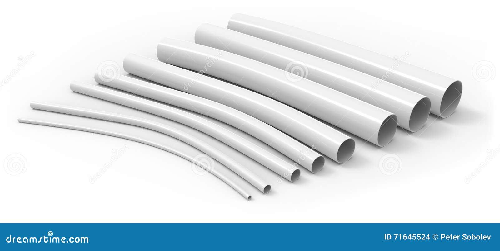 Flexible Plastic Tubing : Flexible plastic tubing stock illustration image
