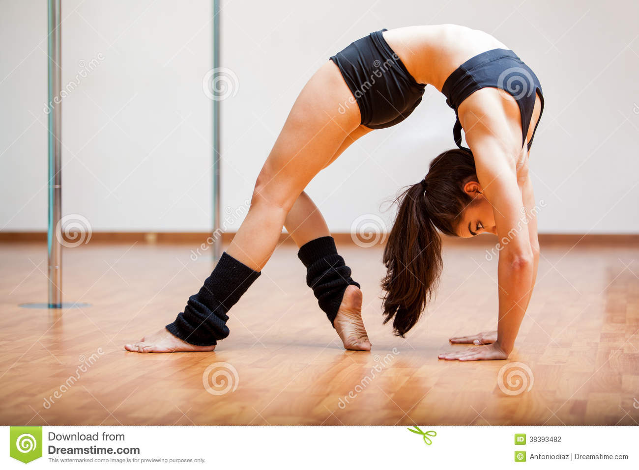 Ballet dancer and Gymnast stock photo. Image of beauty