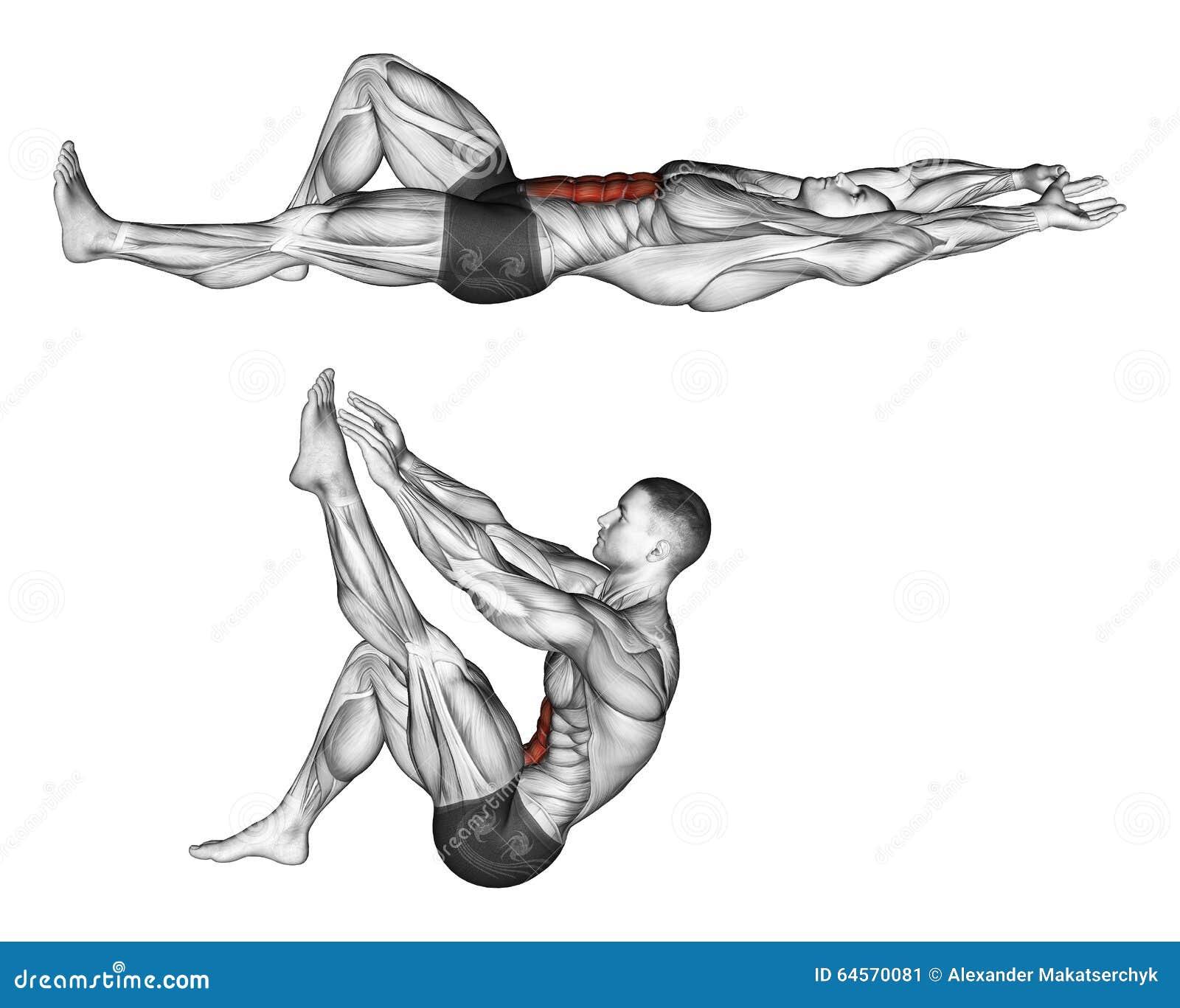 _ Flexion bagażnik z nogami ciągnie w górę nogi