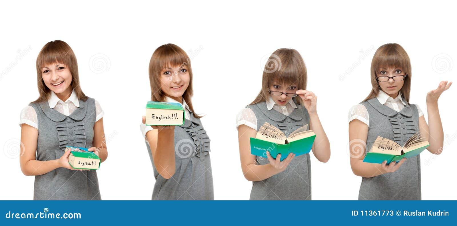 Flicka för ordboksinnesrörelseengelska