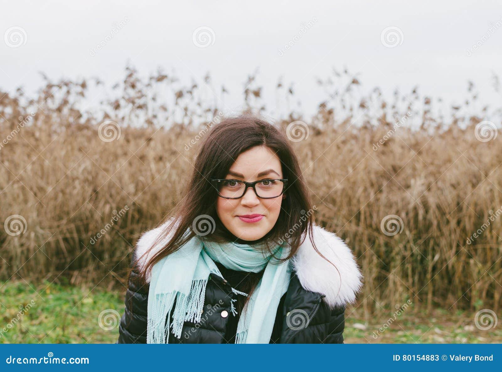 Flicka i exponeringsglas