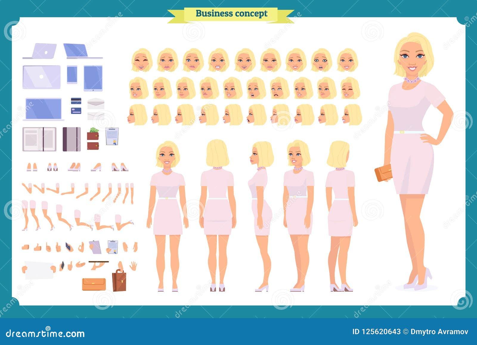 Flicka i uppsättning för skapelse för tecken för aftonklänning Partikvinna i svart moderiktig lyxig kappa Full längd Design