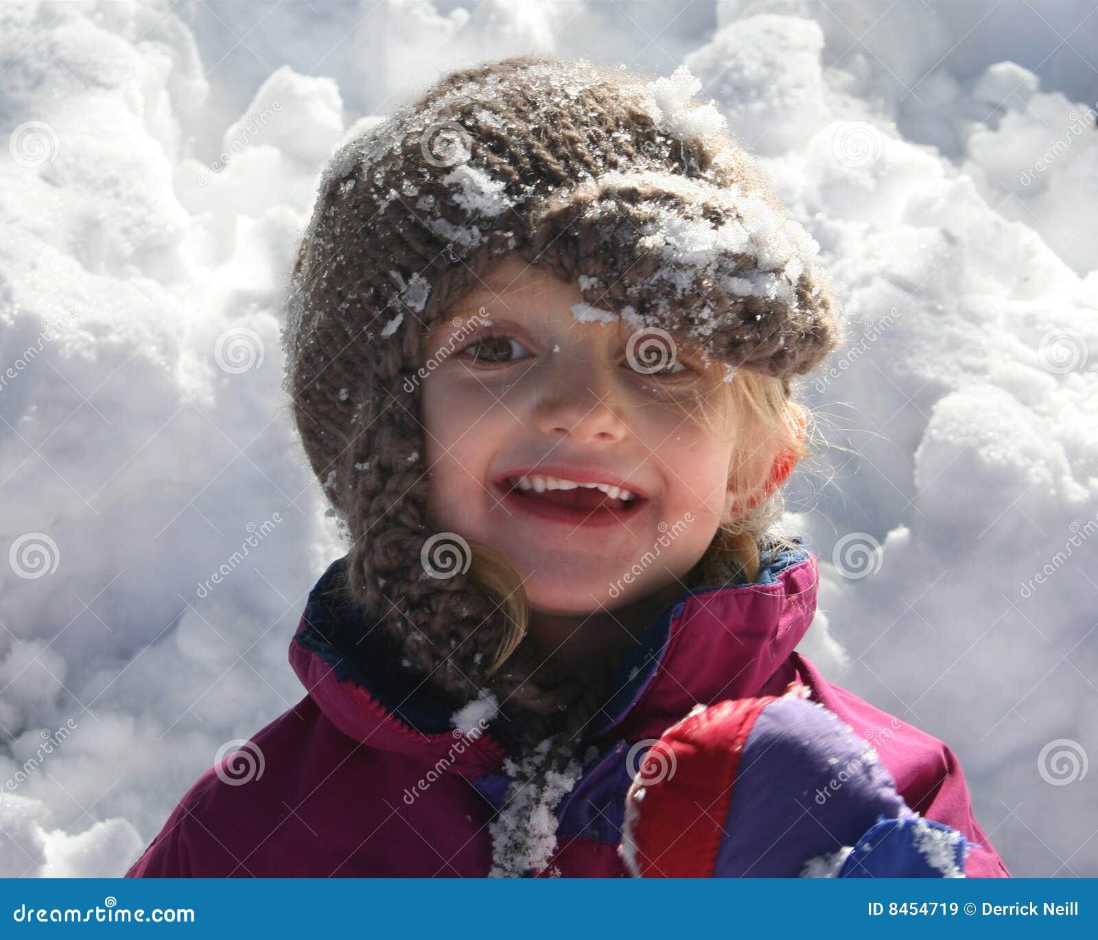 Flicka little snow