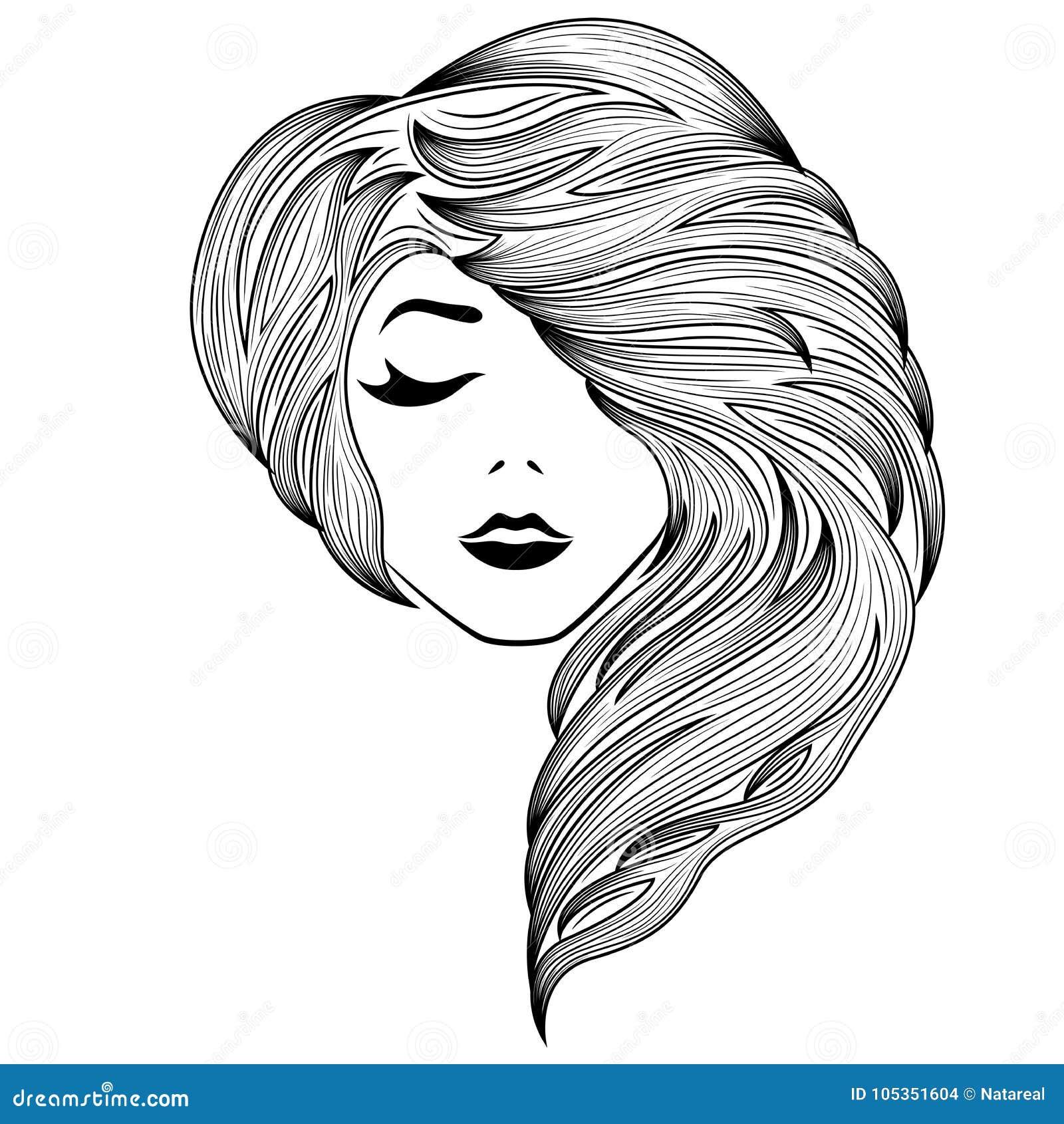 Flicka med det stängda ögat och ursnyggt hår
