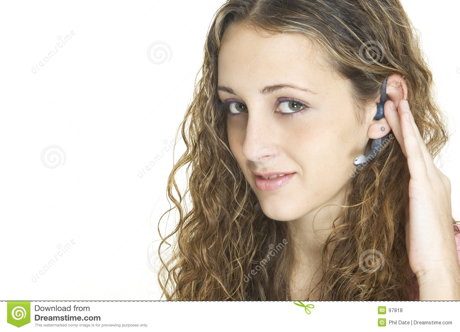Flickahörlurar med mikrofon