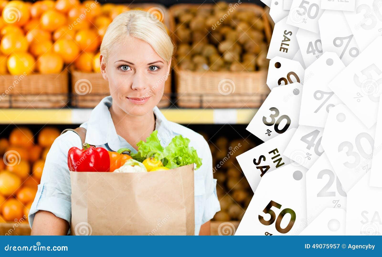 Flickahandpåse med nya grönsaker