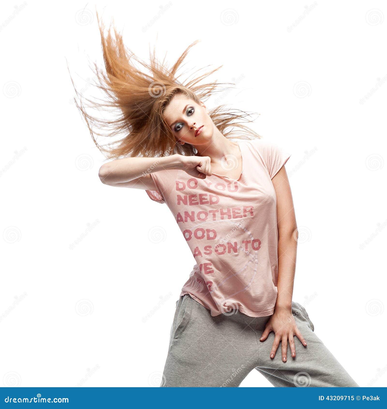 Download Flickahip-hop dansare fotografering för bildbyråer. Bild av studio - 43209715