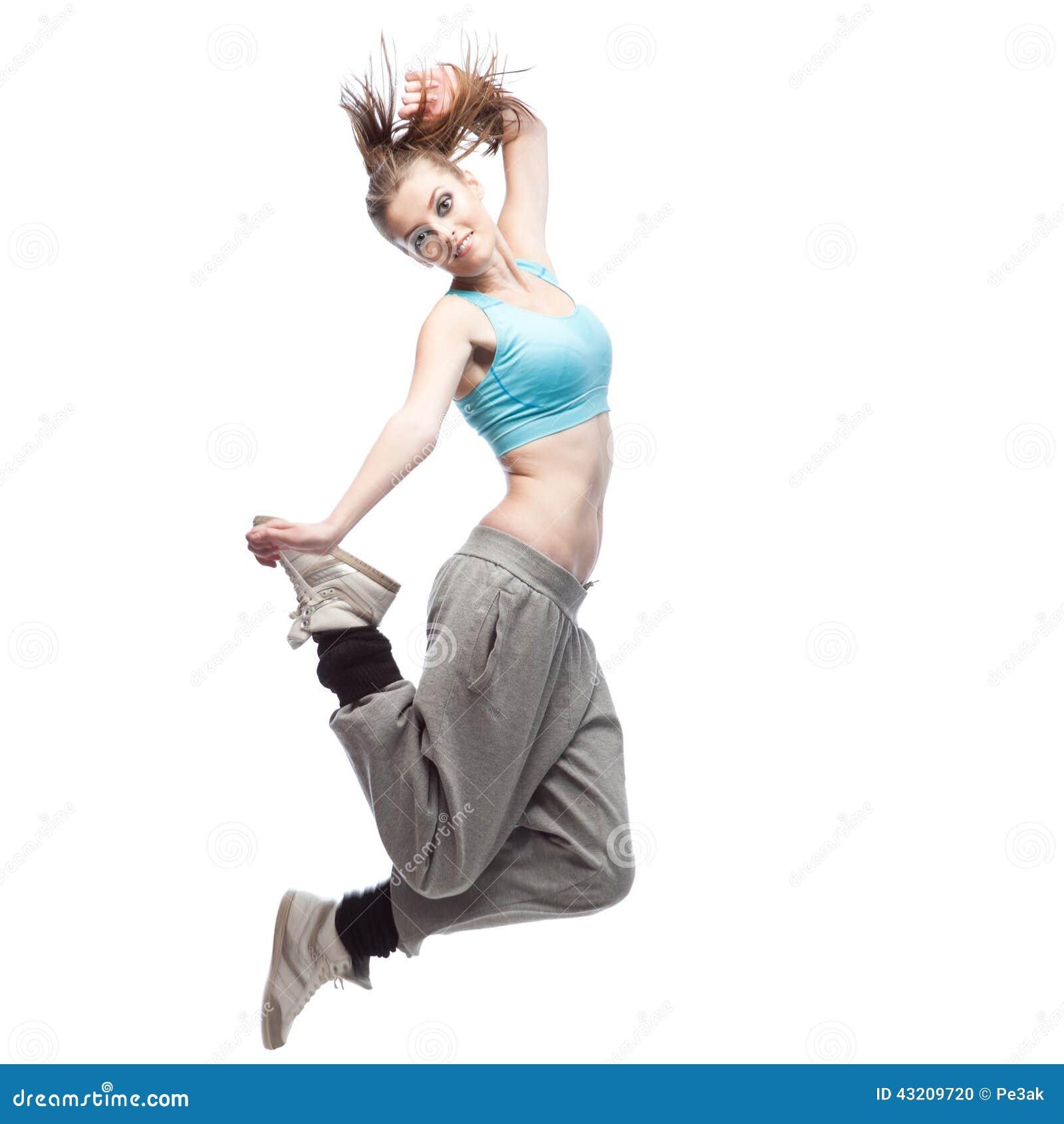 Download Flickahip-hop dansare arkivfoto. Bild av isolerat, caucasian - 43209720
