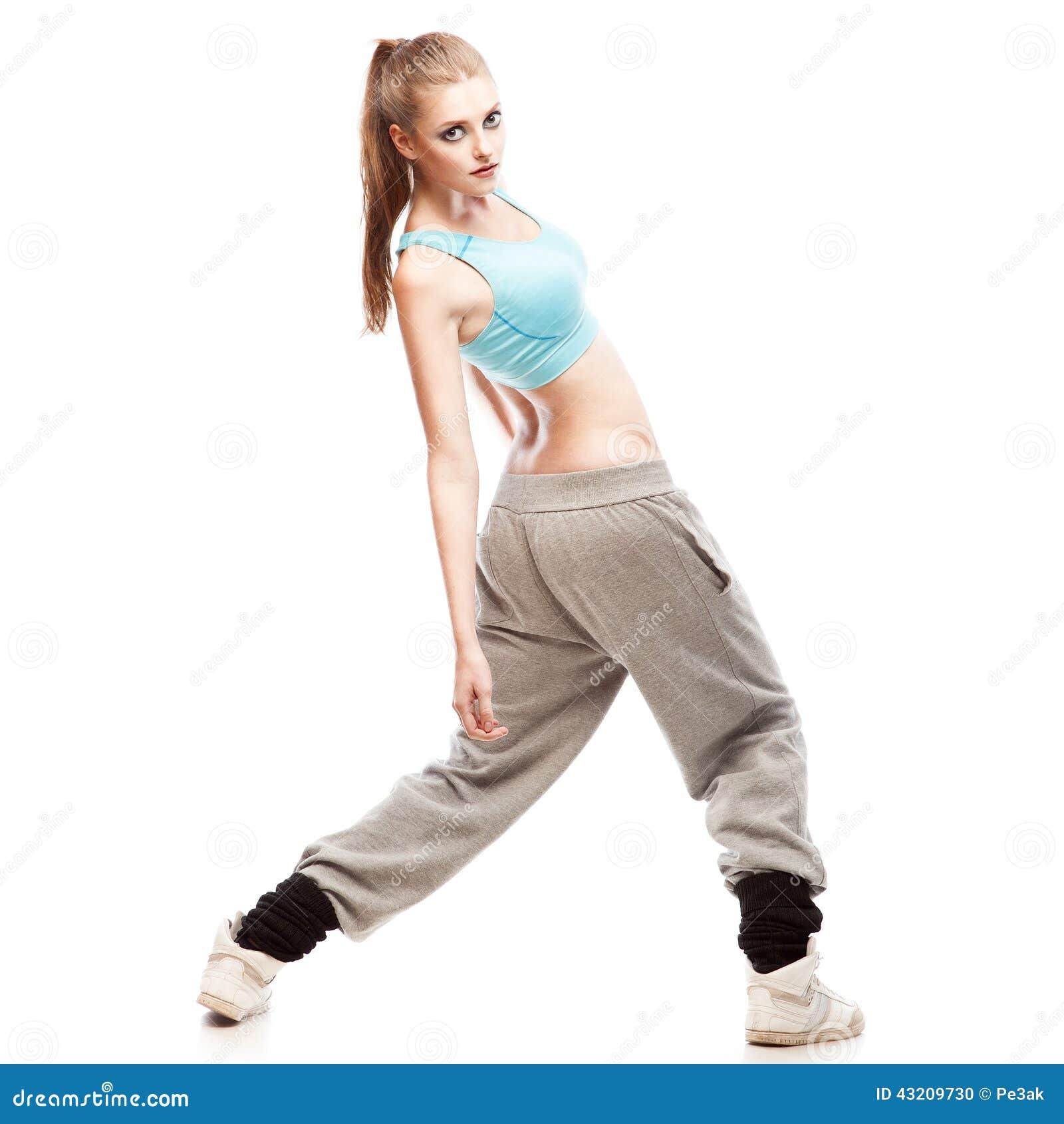 Download Flickahip-hop dansare arkivfoto. Bild av nätt, dans, dansare - 43209730