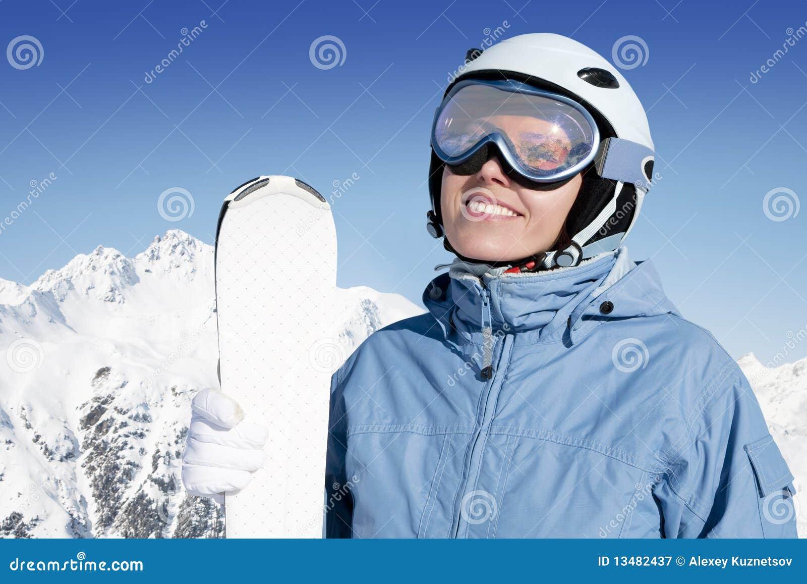 Flickan skidar