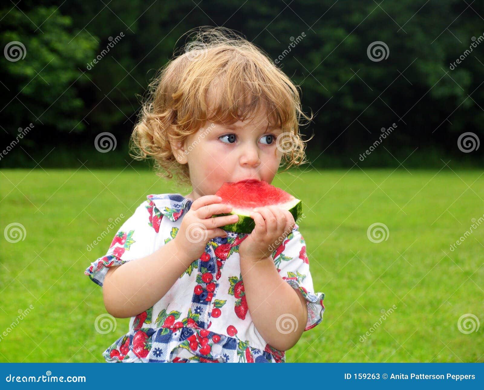 Flickavattenmelon