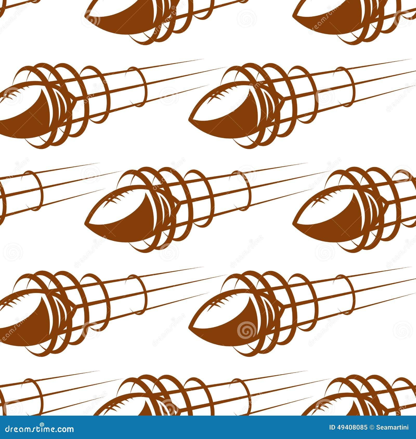 Download Fliegenrugbyballs Im Nahtlosen Hintergrund Vektor Abbildung - Illustration von fußball, aktivität: 49408085