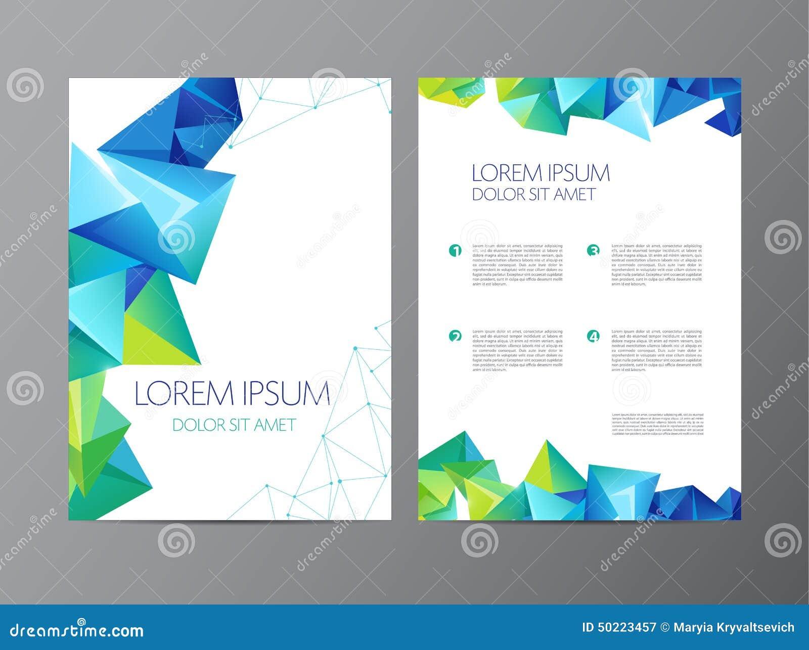Flieger-Broschürendesign des abstrakten Vektors modernes