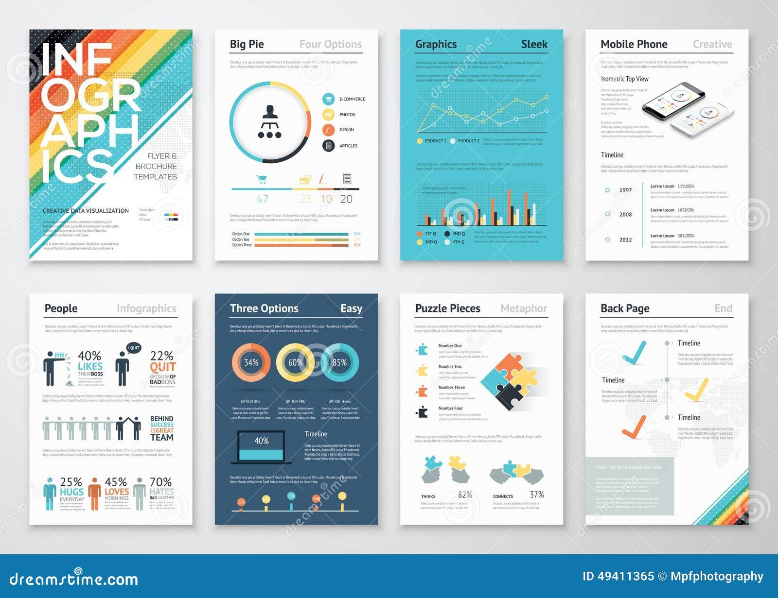Download Flieger- Und Broschürenelemente Infographics Für Geschäft Vektor Abbildung - Illustration von getrennt, elemente: 49411365