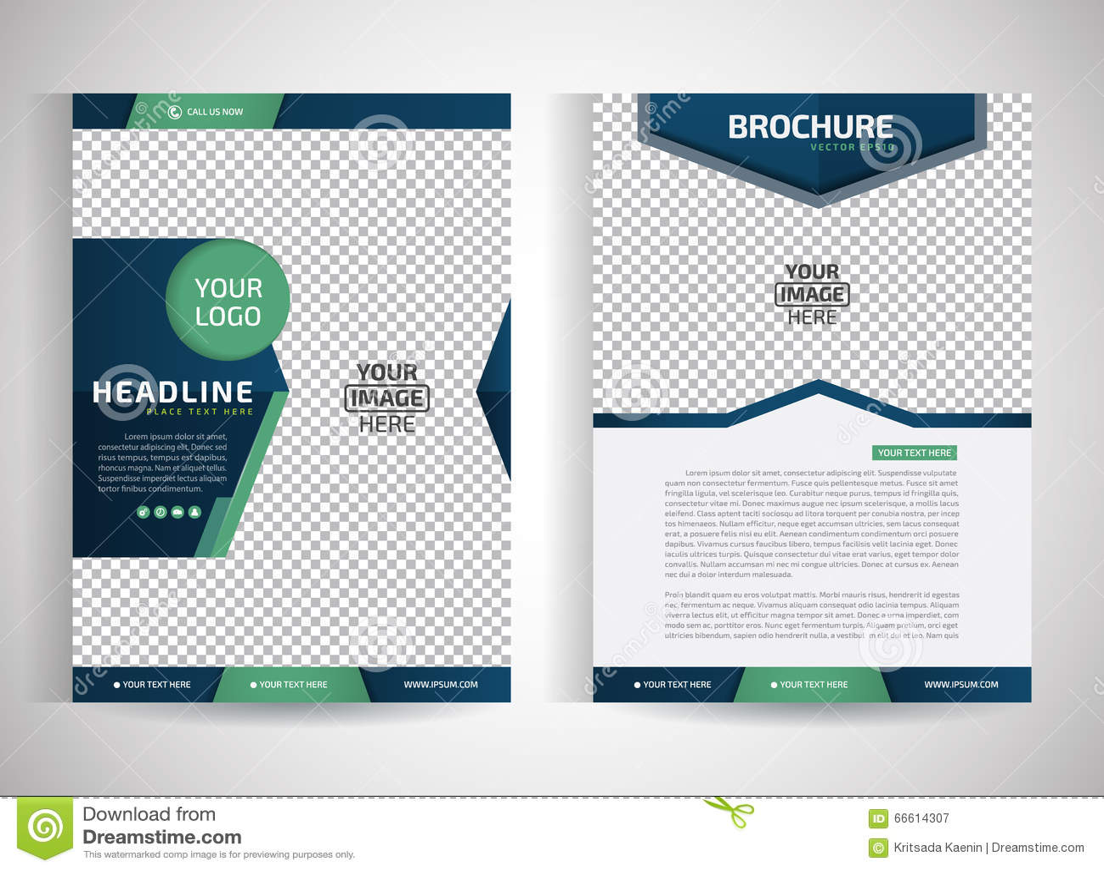 Fliegerbroschüren-/-Jahresbericht/design-Schablonen Des Abstrakten ...