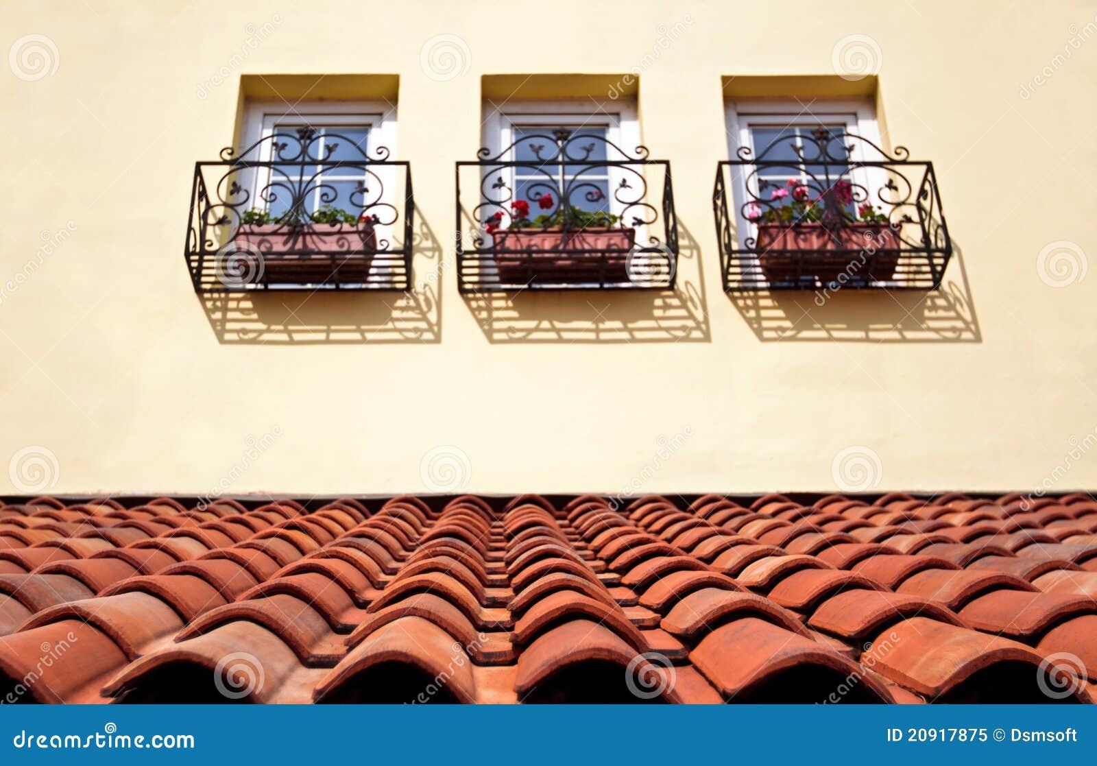 Fliesedach und -fenster