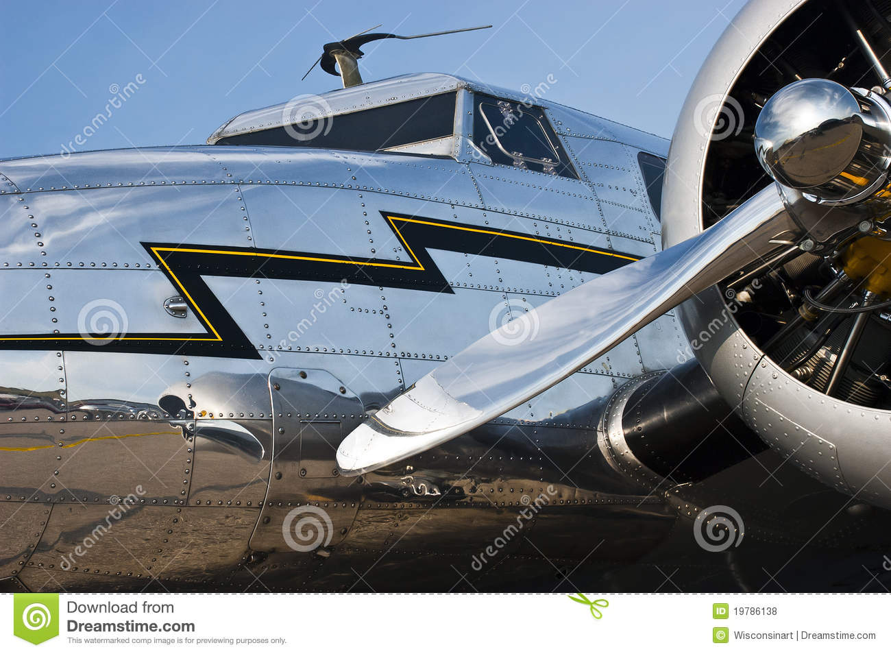 flight aviation concept vintage aircraft closeup royalty free