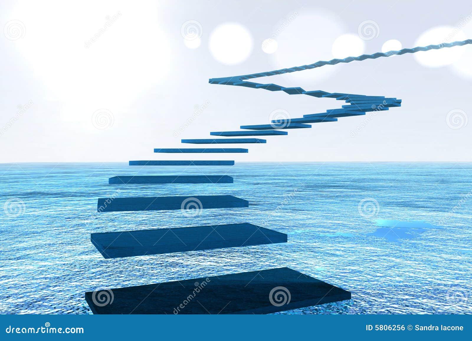 flight of blue steps illustration 5806256 megapixl