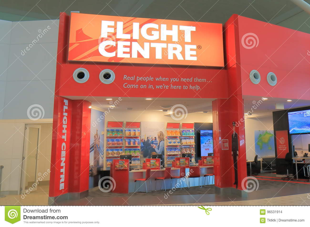 Flight Centre Travel Agency Editorial Stock Image - Image of